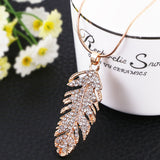 Posh Plume Necklace - Gold