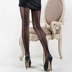 Back Seam Ribbon Pantyhose (Also in Queen Size)
