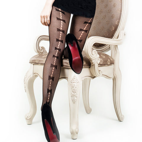 Stunning Bow Ties Pantyhose (Also in Queen Size)