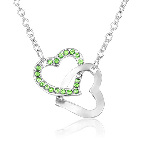 True Friendship Heart Necklace - Green