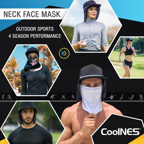 Face Mask/Neck Protector- White