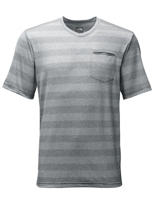 THE NORTH FACE M S/S Unrestricted V-Neck - Zinc Grey - thefrontier.com.au