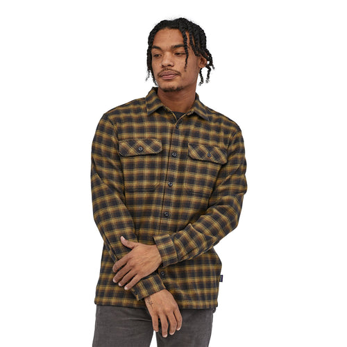 M L/S Fjord Flannel Shirt - Castroville: Ink Black