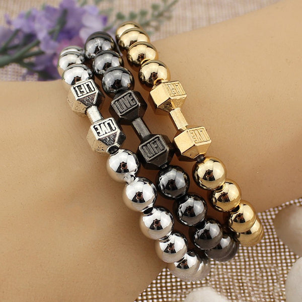 Fit Life Dumbbell Beads Bracelet - LOVEHAUL