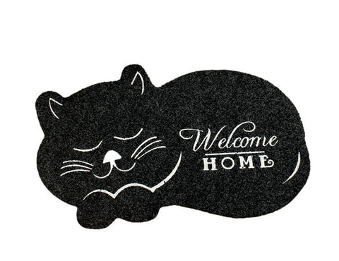 Welcome Home Kitty Floor Mat
