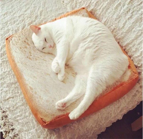 Comfy Toast Cat Bed - Bread Loaf Style
