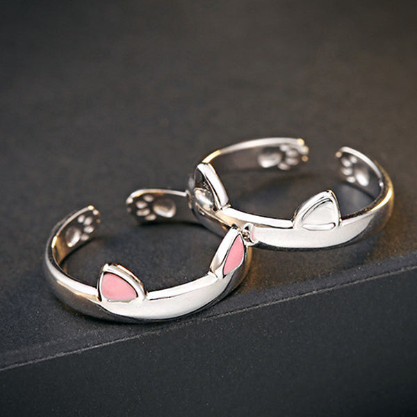 Cute Paw & Ears Cat Ring