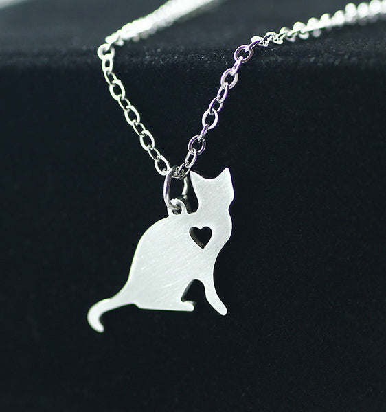 Cute Cat Heart Pendant - LOVEHAUL