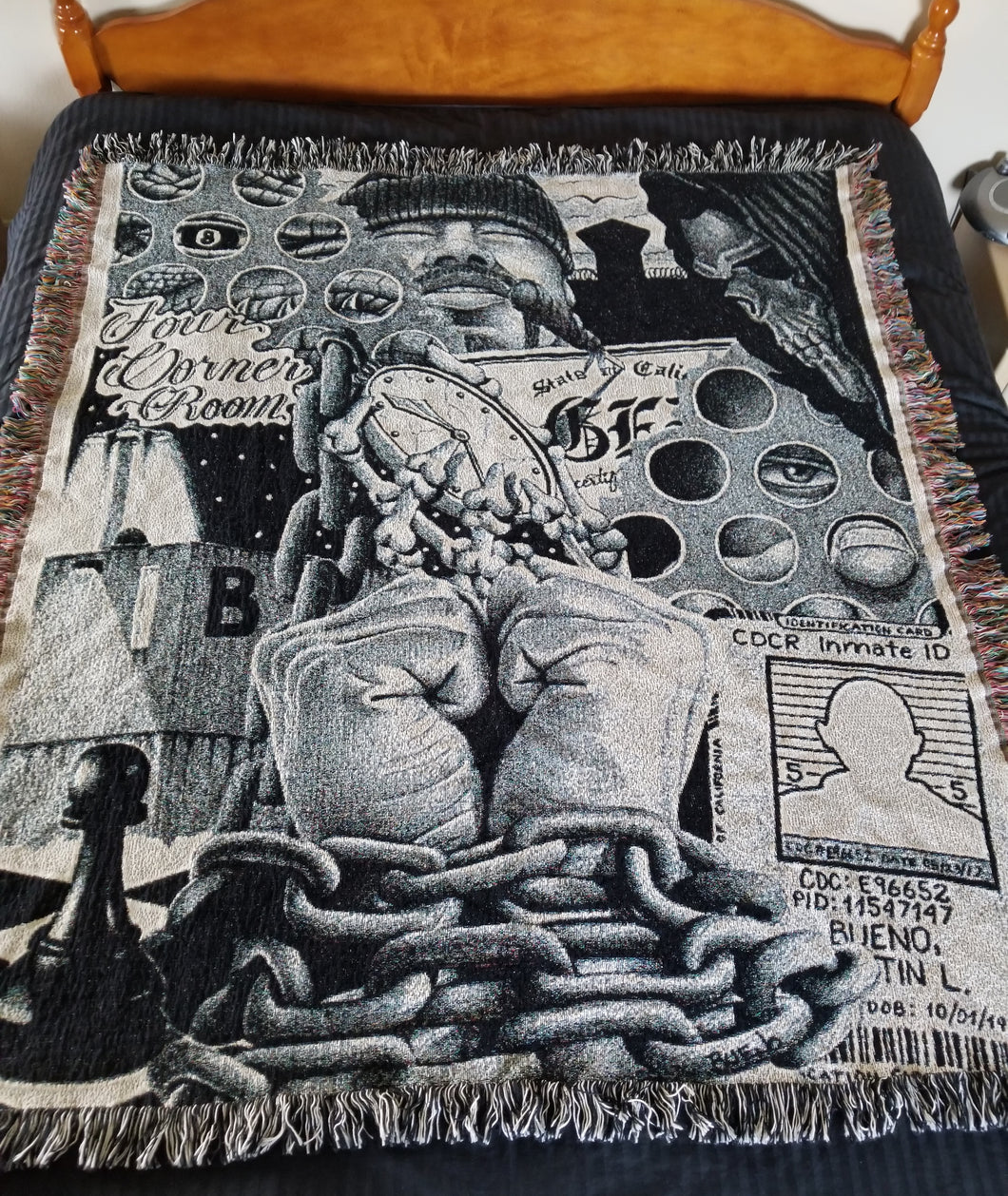 Limited Edition Prison Art 50x60 Woven Throw