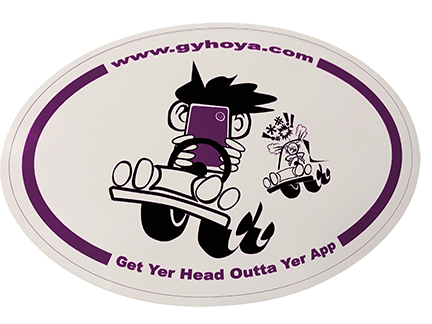 Get Yer Head Outta Yer App! Sticker