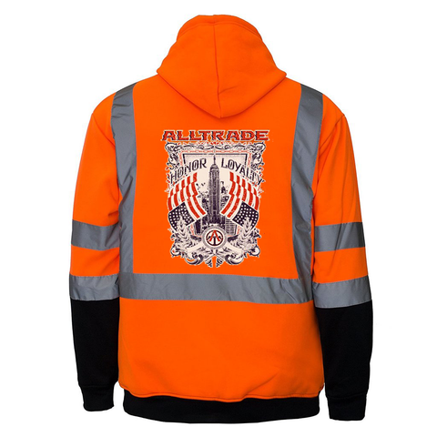 Honor Loyalty Reflective Hoodie - all-trade-apparel.