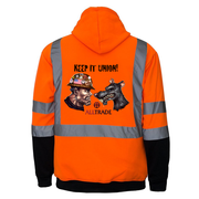 Keep It Union Reflective Hoodie - all-trade-apparel.