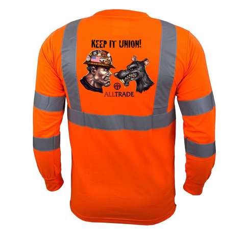 Keep It Union Reflective Long Sleeve - all-trade-apparel.