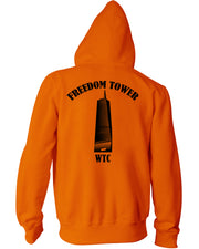 Freedom Tower Orange Hoodie - all-trade-apparel.