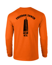 Freedom Tower Orange Long Sleeve - all-trade-apparel.