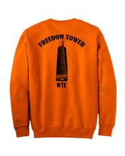 Freedom Tower Orange Sweatshirt - all-trade-apparel.