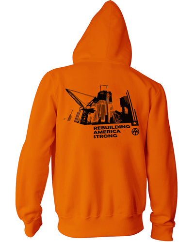Rebuilding America Orange Hoodie - all-trade-apparel.