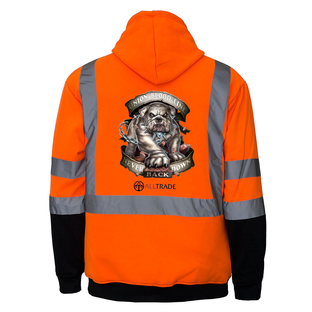 Bulldog Reflective Hoodie - all-trade-apparel.