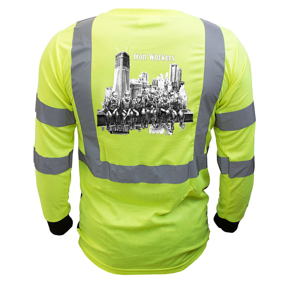 Iron Workers Reflective Long Sleeve Black Bottom - all-trade-apparel.