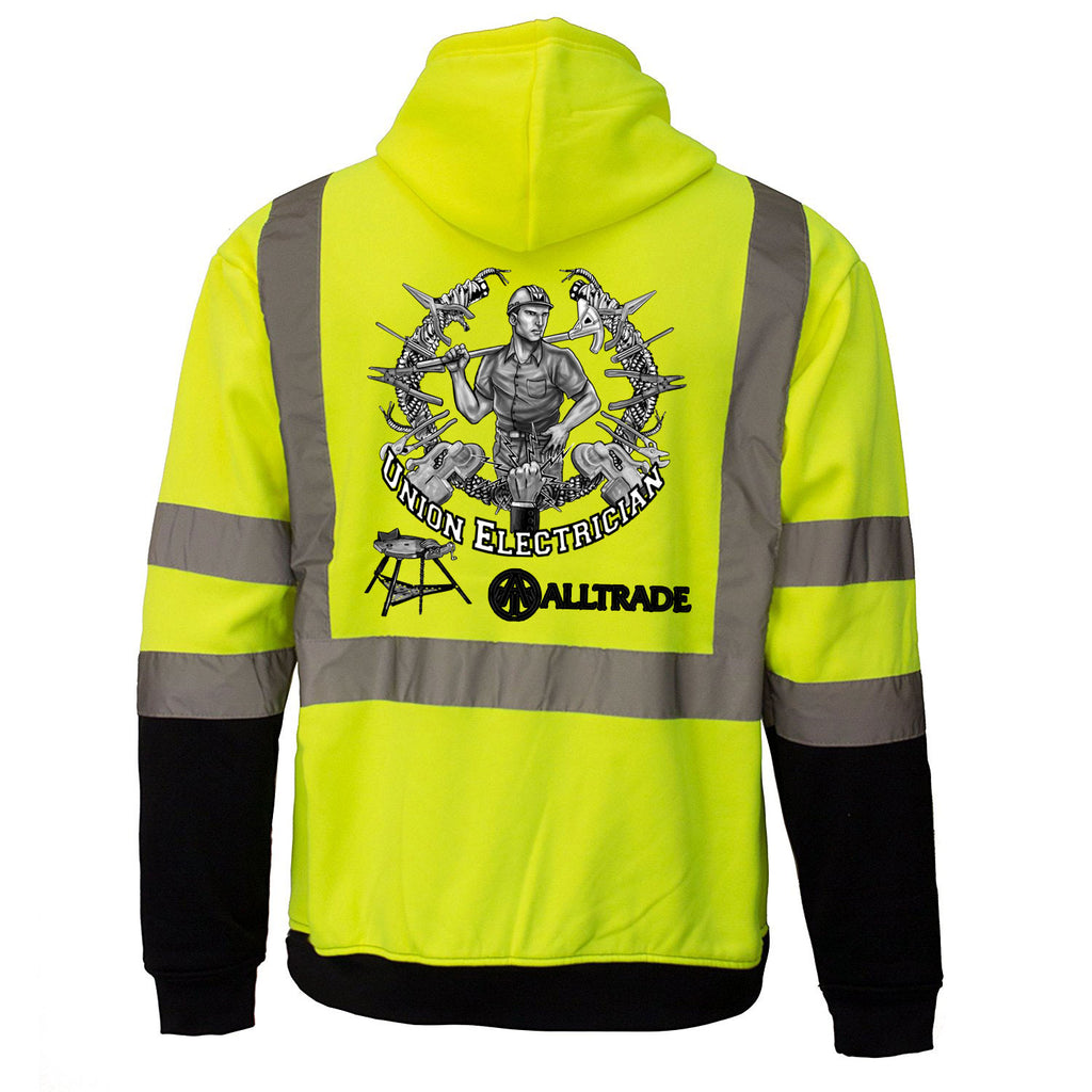 Electrician Reflective Hoodie - all-trade-apparel.