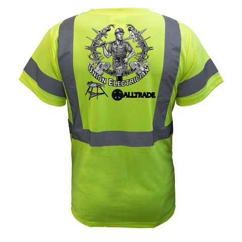 Electrician Reflective T-Shirt - all-trade-apparel.