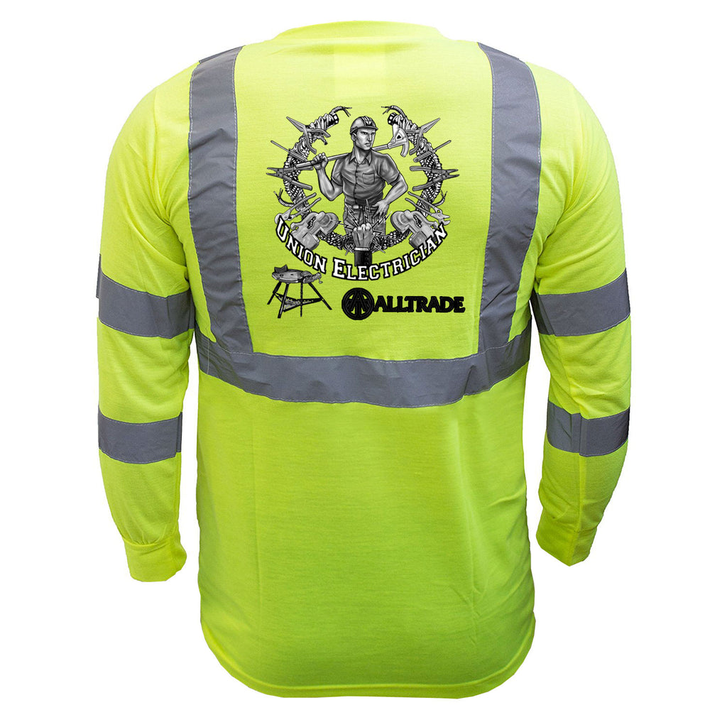 Electrician Reflective Long Sleeve - all-trade-apparel.