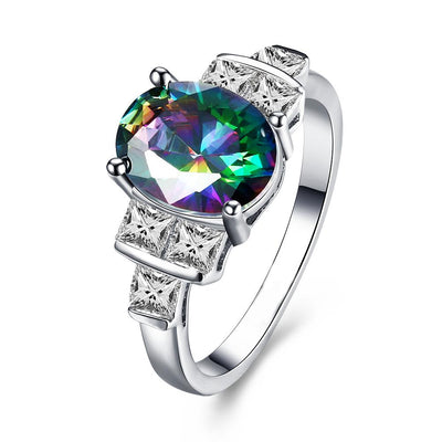 Mystic Topaz Pav'e Cocktail Ring
