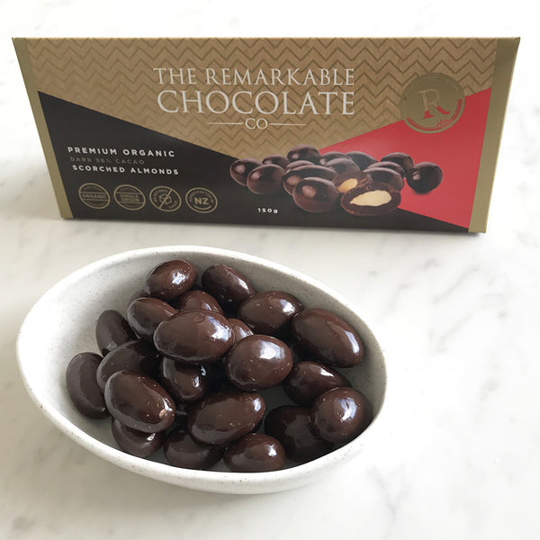 The Remarkable Chocolate Co. Organic Scorched Almonds - handmade New Zealand chocolate