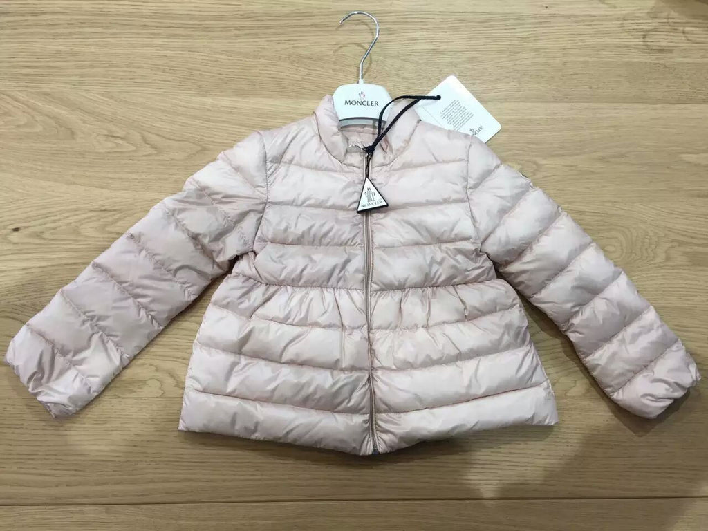 2d67cb074ad67 Baby Girls Light Pink Down Padded Ribbed 'Joelle' Jacket ...