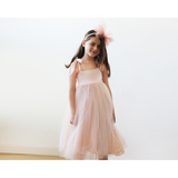 Copy of Tie straps flower girl tulle - Pink & Gold