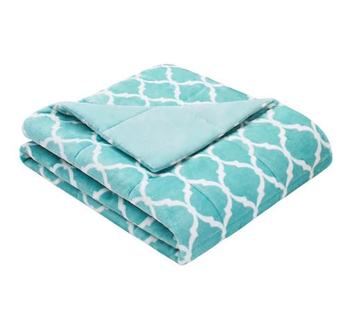 Adult & Teen Weighted Blanket: Ultra Plush-Aqua 60