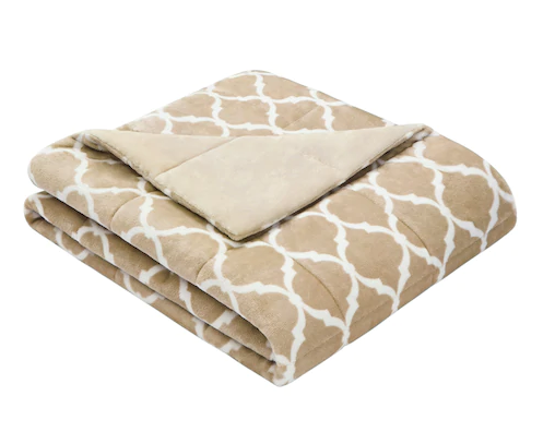 "Adult & Teen Weighted Blanket: Ultra Plush-Tan 60"" x 70"