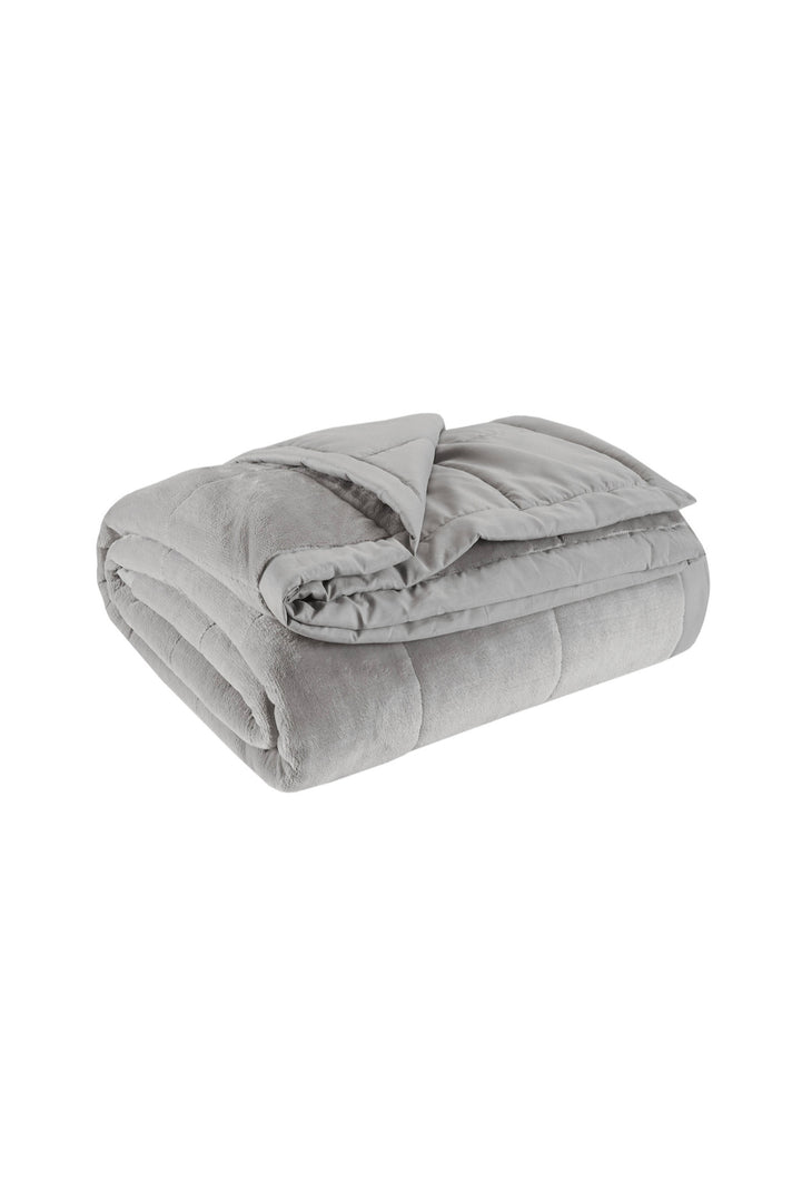 Gray Ultra Plush Queen & King Weighted Blanket - Therapeutic Weighted Blankets
