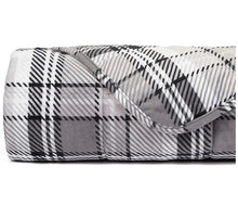 Gray Plaid Plush Weighted Blanket