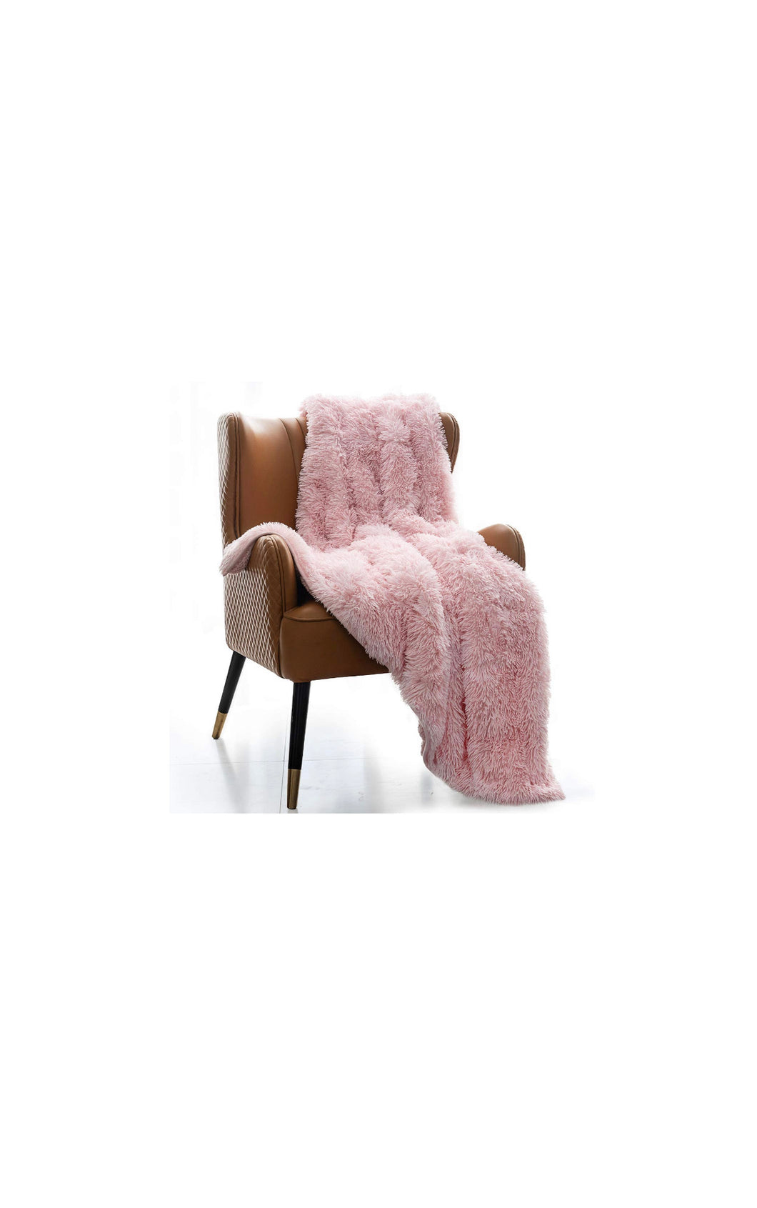Pink Faux Fur Sherpa Weighted Blanket