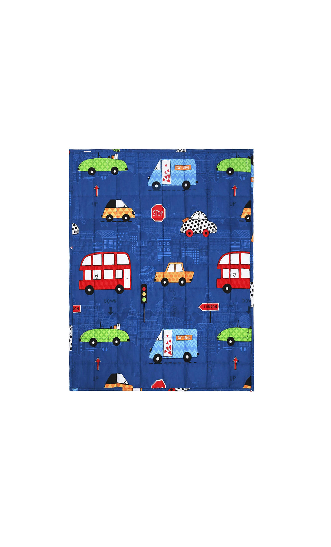 100% Cotton Children's Weighted Blanket (Blue Car)