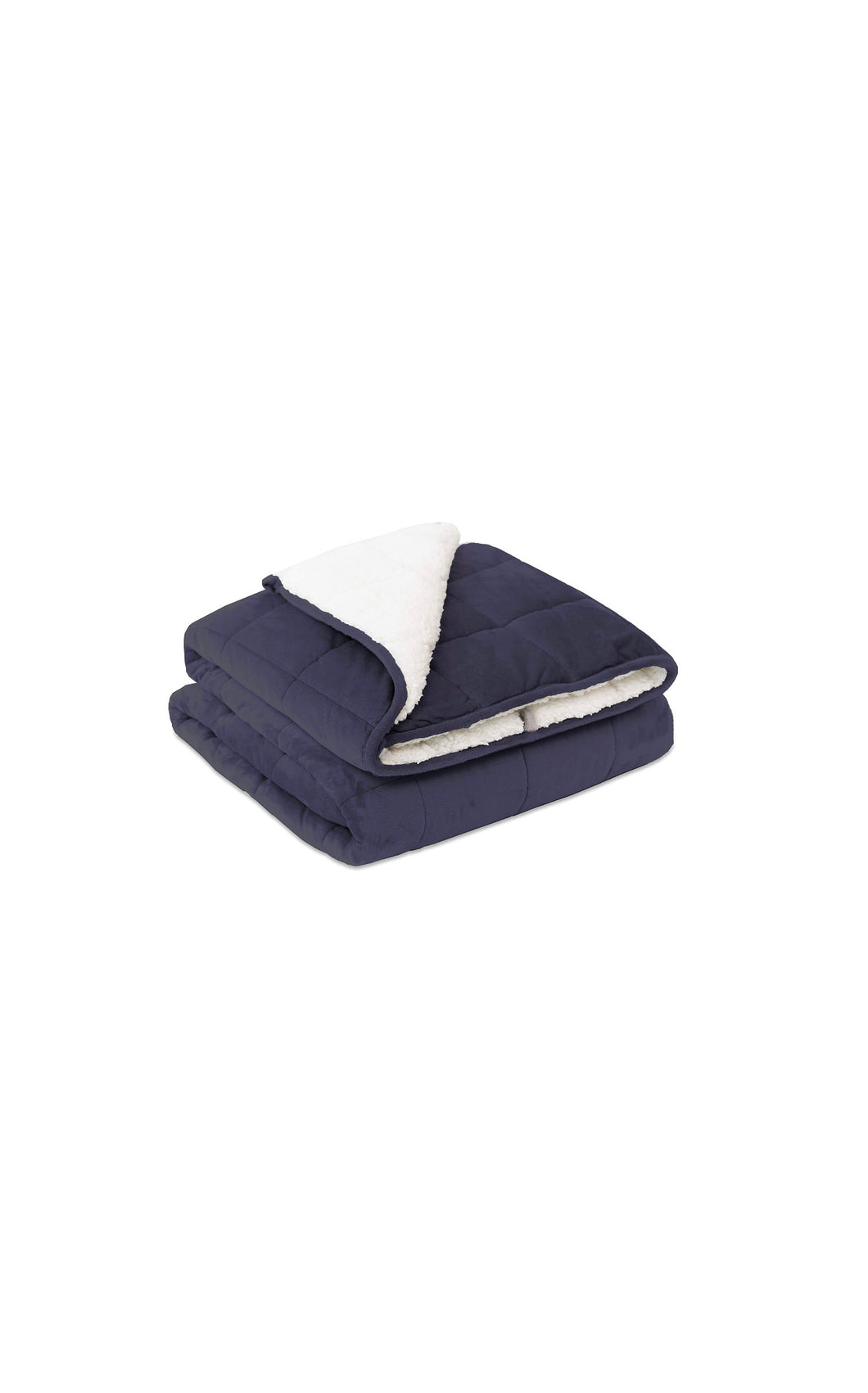 "Navy Blue & White Weighted Blanket (50"" x 60"")"