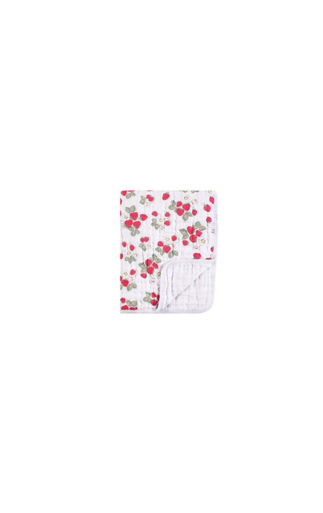 Strawberries Muslin Cotton Weighted Blanket (46