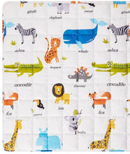 "100% Cotton Children's Weighted Blanket (36"" x 48"") Zoo"