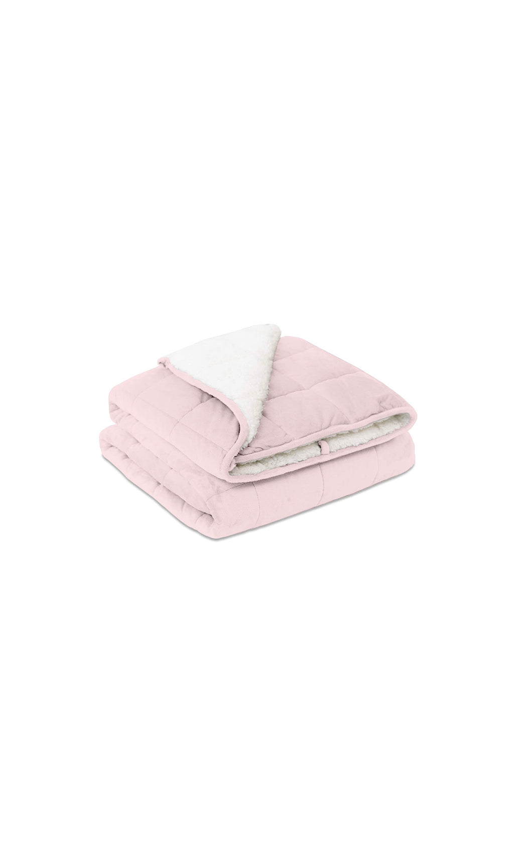 "Pink & White Weighted Blanket (50"" x 60"")"