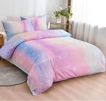 "4 Piece Rainbow King Bed Duvet Cover & Weighted Blanket (104"" x 88"")"