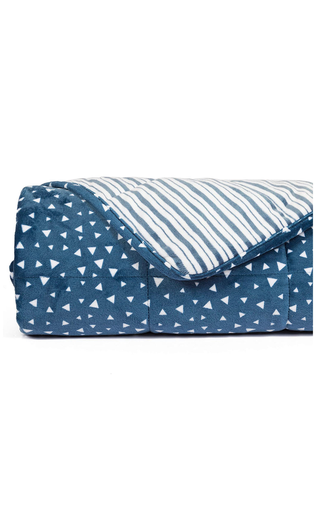 Blue Plush Weighted Blanket