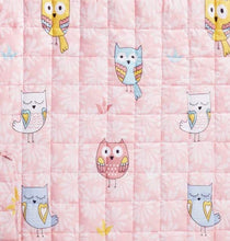 "100% Cotton Children's Weighted Blanket (36"" x 48"") Pink Owl"