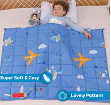 "100% Cotton Children's Weighted Blanket (36"" x 48"") Airplane"