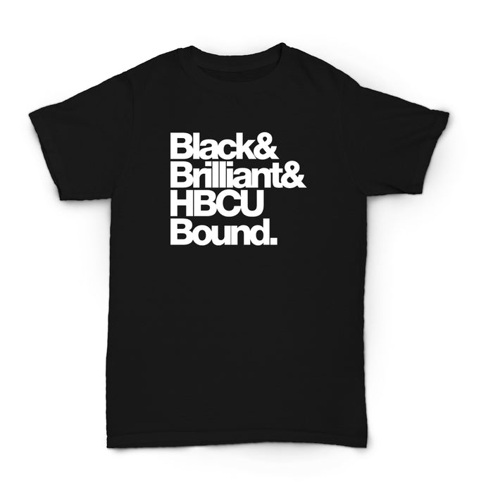 Black Brilliant HBCU Bound Adult Unisex Tee