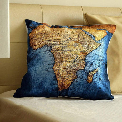 Map Cushion Covers Serenity Blissful Living