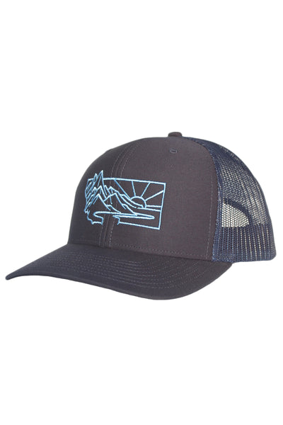 Heritage Embroidered Trucker Hat - Navy