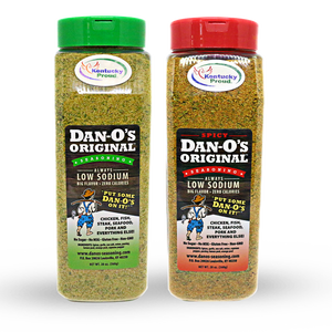 Big Bottle Combo! Best Value! You will love both of these. Spicy is not super spicy, spicy flavor. Cayenne pepper is the heat so never to hot.