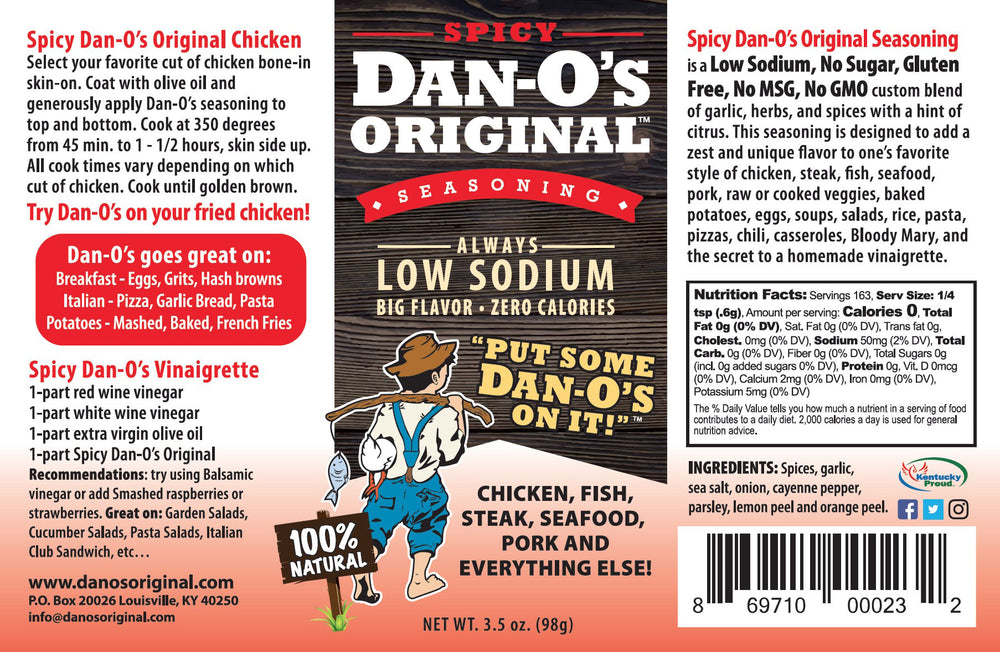 Spicy Dan-O's Original - Dan-O's Orginal Seasoning