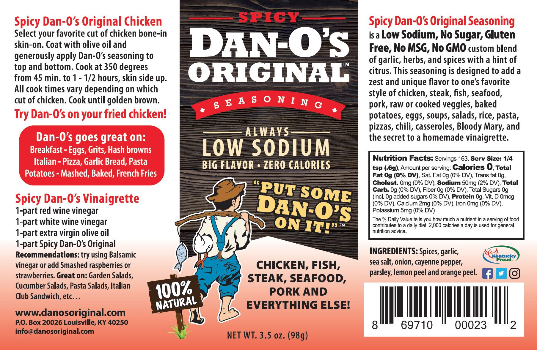 Spicy Dan-O's Original Seasoning - Dan-O's Orginal Seasoning